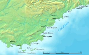Cartina Costa Azzurra
